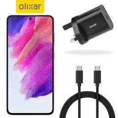 Olixar Samsung Galaxy S21 FE 18W USB-C Fast Charger & 1.5m USB-C Cable