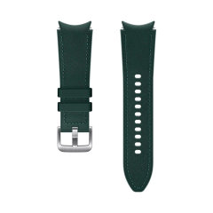 Official Samsung Galaxy Watch 4 Hybrid Leather Strap - 20mm S/M- Green