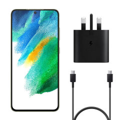 Official Samsung S21 FE 25W UK Wall Charger & 1m USB-C Cable - Black