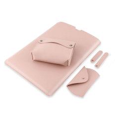 "Olixar Universal Laptop and Tablet Genuine Leather 13"" Sleeve - Pink"