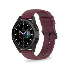 Olixar Samsung Galaxy Watch 4 Soft Silicone Strap - 20mm M/L - Maroon