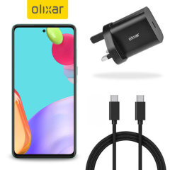 Olixar Samsung Galaxy A52s 18W USB-C Fast Charger & 1.5m USB-C Cable