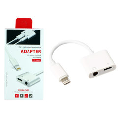 VD Lightning To 3.5mm Audio Adapter With Pass-Through Charging
