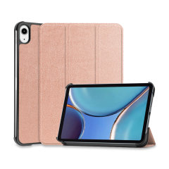 Olixar Leather-Style iPad mini 6 2021 6th Gen. Wallet Case - Rose Gold