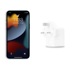 Official Apple iPhone 13 Pro Max 30W USB-C Fast Wall Charger - White