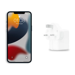 Official Apple iPhone 13 mini 30W USB-C Fast Wall Charger - White