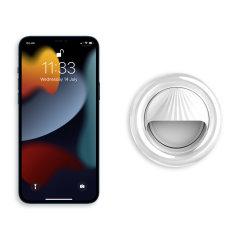 Olixar iPhone 13 Pro Max Clip-On Selfie Ring LED Light - White