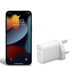 Olixar iPhone 13 Pro Max 20W Single USB-C Wall Charger - UK Plug