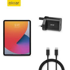 Olixar iPad mini 6 2021 6th Gen. 18W USB-C Fast Charger & 1.5m Cable
