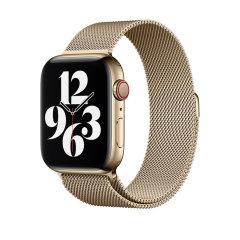 Official Apple Watch Series 7 45mm Milanese Loop - Gold