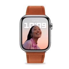 Olixar Genuine Leather Apple Watch 42mm Strap - Brown