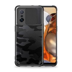 Olixar Xiaomi Mi 11T Carbon Fibre Camera Privacy Case - Black