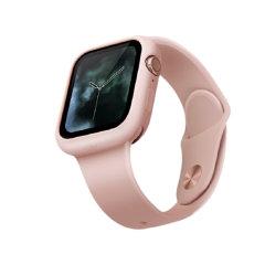 UNIQ Lino Apple Watch Series 7 41mm Silicone Case - Blush Pink