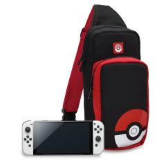 Hori Nintendo Switch OLED Pokeball Edition Travel Bag - Black/Red