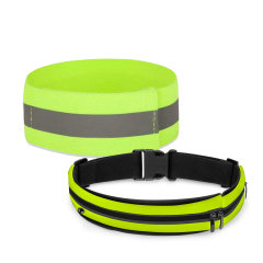 Olixar Universal Reflective Armband & Running Belt with Phone Pouch