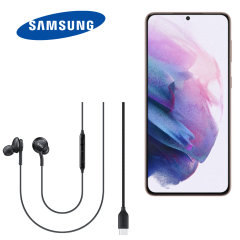 Official Samsung Galaxy S21 FE AKG USB Type-C Wired Earphones - Black