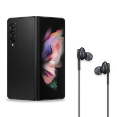Official Samsung Galaxy Z Fold 3 AKG USB Type-C Wired Earphones- Black