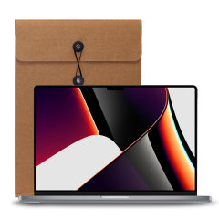 """Luckies MacBook Pro 14"""" 2021  Incognito Tech Sleeve - Brown"""