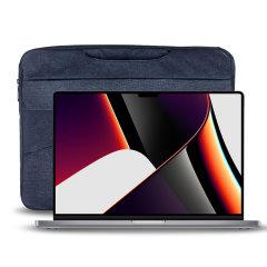 "Olixar Canvas MacBook Pro 16"" 2021 Bag With Handle - Navy Blue"