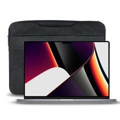 """Olixar Canvas MacBook Pro 16"""" 2021 Bag With Handle - Black"""