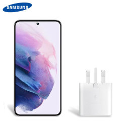 Official Samsung Galaxy S22 Plus 25W PD USB-C UK Wall Charger - White