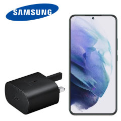 Official Samsung Galaxy S22 25W PD USB-C UK Wall Charger - Black