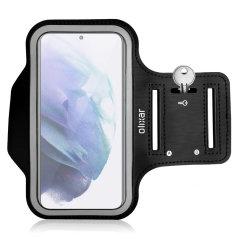 Olixar Samsung Galaxy S22 Running & Fitness Armband Holder - Black