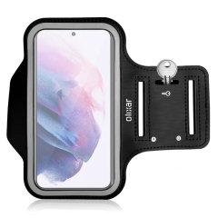 Olixar Samsung Galaxy S22 Plus Running & Fitness Armband Holder- Black