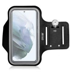 Olixar Samsung Galaxy S21 FE Running & Fitness Armband Holder - Black