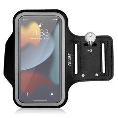 Olixar iPhone 13 Pro Running & Fitness Armband Holder - Black