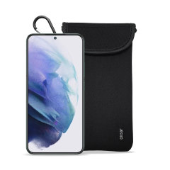 Olixar Neoprene Samsung Galaxy S22 Pouch with Card Slot - Black