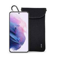 Olixar Neoprene Samsung Galaxy S22 Plus Pouch with Card Slot - Black