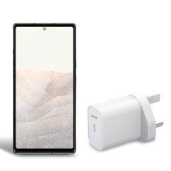 Olixar Google Pixel 6 20W USB-C Wall Charger - UK Plug - White