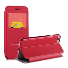 Active Leather-Style iPhone 6S/6 Flip Shell Case - Red