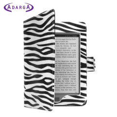 Adarga Book Kindle Paperwhite Case - Zebra