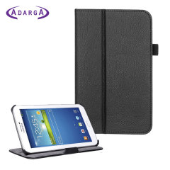 Adarga Book Stand Samsung Galaxy Tab 3 7.0 Case - Black