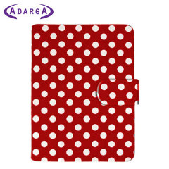 Adarga Google Nexus 7 2013 Stand and Type Case - Red Polka