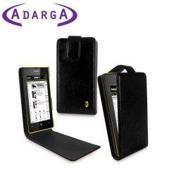 Adarga Leather Style Flip Case for Nokia Lumia 525 / 520 - Black