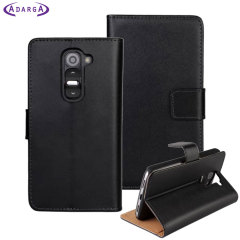Adarga Leather-Style LG G2 Mini Wallet Case - Black