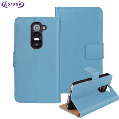 Adarga Leather-Style LG G2 Mini Wallet Case - Blue