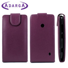 Adarga Leather Style Nokia Lumia 525 / 520 Flip Case - Purple