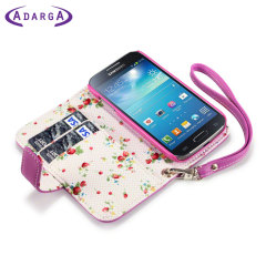 Adarga Leather-Style Samsung Galaxy S4 Mini Wallet Case - Pink