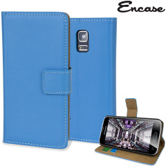 Adarga Leather-Style Samsung Galaxy S5 Mini Wallet Case - Blue