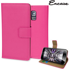 Adarga Leather-Style Samsung Galaxy S5 Mini Wallet Case - Pink