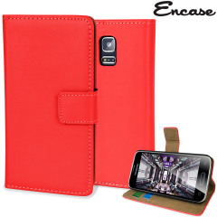 Adarga Leather-Style Samsung Galaxy S5 Mini Wallet Case - Red