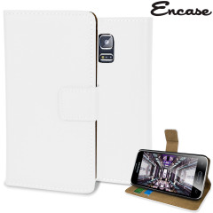 Adarga Leather-Style Samsung Galaxy S5 Mini Wallet Case - White