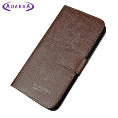 Adarga Leather-Style Samsung Galaxy Trend Plus Wallet Case - Brown