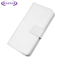 Adarga Leather-Style Samsung Galaxy Trend Plus Wallet Case - White