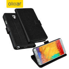 Adarga Leather-Style Samung Galaxy Note 3 Neo Wallet Case - Black