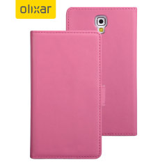 Adarga Leather-Style Samung Galaxy Note 3 Neo Wallet Case - Pink